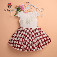 Girls Clothes Rushed Kids Dresses For Girls 2017 New Arrival Lace Dot Dress And Retail Girl Costume Fashion Dresses Children