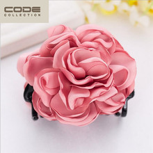 New Large Peony Crab Hair Clip Camellia Flower Hair Claws Ponytail Hair Ornaments Women Hair Accessories Girl Hairgrip Hairclip
