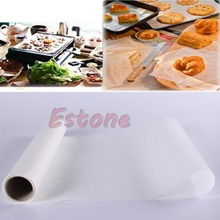 5M Parchment Paper Roll Silicone Oven Baking Greaseproof Sheets Waxed Cooking(China)
