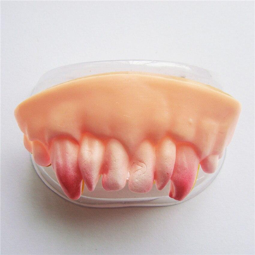 4PCS Halloween Cosplay Makeup Party Zombie Vampire Teeth Prank Freak luminous False Teeth Novelty funny Gags Practical Jokes 26
