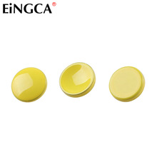 3 Pieces Yellow Flat Concave Convex Camera Mechanical Shutter Release Button for Leica Fujifilm X100 X100s X100t M9 XT10 XT20
