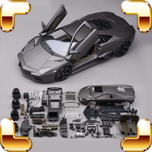 New Year Gift RVT 1/18 DIY Metal Model Car Assemble Toys Simulation Model Scale Game Education House Decoration IQ Present Toy