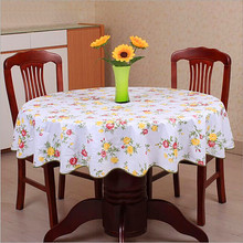 Pastoral style wave table cloth anti hot PVC plastic table cloth for Round table home hotel table cover decoration waterproof