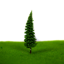 High quality 100pcs/lot  4.3cm ABS plastic  mini scale model trees for railroad model train layout