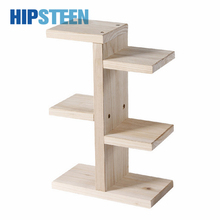 HIPSTEEN Mini Tabletop Solid Wood Storage Rack Durable Office Sill Simple Pot Frame Stand(China)