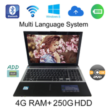 2017 Brand New windows 7/8 system 15.6 inch laptop Intel Celeron J1900 2.0GHz 4G ram 250G HDD in camera with DVD-RW(China)