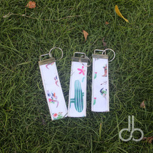 Wholesale Canvas Cactus Key Fob Monogramable Cotton Arrow Keychains In Multi Colors DOMIL-1010655