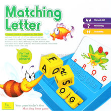 Literacy Fun game Family Fun Matching Letter Game Learning toys English Word ABC Puzzle Educational Toys For children