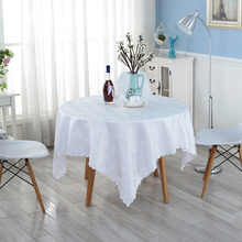 Pure White Tablecloths Family Dining Cleaning Supplies Environmentally Friendly Table Cloth High Quality Party Table Cloth ZH-31
