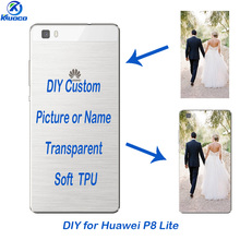 DIY Photo Soft TPU for Huawei P8 Lite Clear Custom Phone Case 5.0 inch for Ascend P8 Lite Shell Clear Thin 0.5mm Back Cover