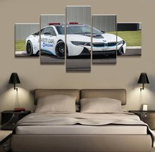 5 Panel BMW i8 Super police car Canvas Printed Painting For Living Room Picture Wall Art HD Print Decor Modern Artworks Poster