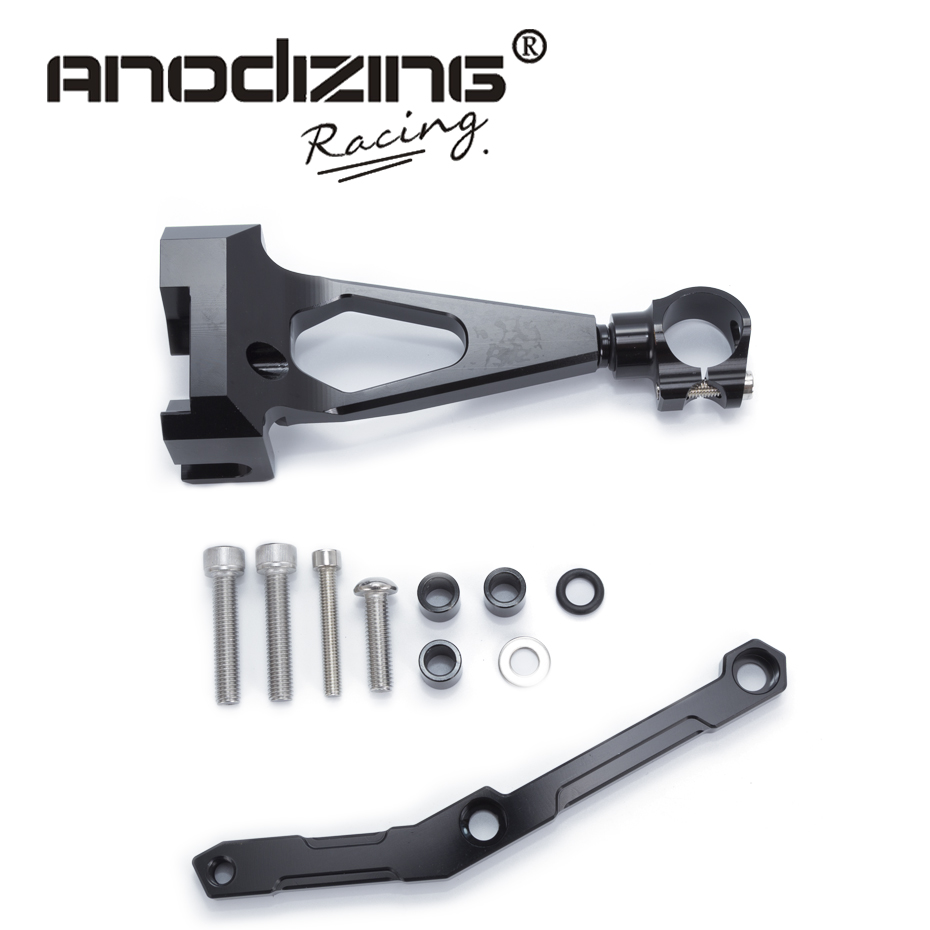 For Yamaha MT09 MT-09 FZ-09 2013-2017 Motorcycles Adjustable Steering Stabilize Damper Bracket Mount Support Kit Accessories<br>