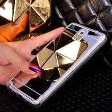 Fashion Plating Mirror Soft TPU Phone Case For Samsung Galaxy Note3/4/5/7 S3 i9300 S4 i9500 S5 S6 S7 Edge Plus Back Cover Case(China)