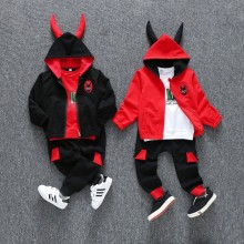 spring autumn 2-9 years old child clothes boys cotton long sleeve t shirt + coats + pants sets baby sets boy clothing sets