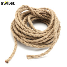 10meters 2x0.75mm Hemp Rope Wire Retro DIY Braided Textile Fabric Electrical Wires Cable Lamp Cord For Pendant lights(China)