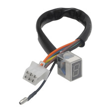 Hot Selling LED Universal Digital Gear Indicator Motorcycle Display Shift Lever Sensor(China)