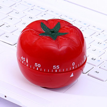 1pcs Tomato 360 Degree Kitchen Timers Red Color easy use Chic 1-60min Cooking Clock Indoor Mechanical Countdown Timer EA