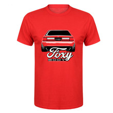 2017 new fashion Vintage Foxy Body Ford Mustang T Shirt Men Short Sleeve Crewneck Cotton Plus Size XXXL Racer CAR Team TEE Shirt(China)