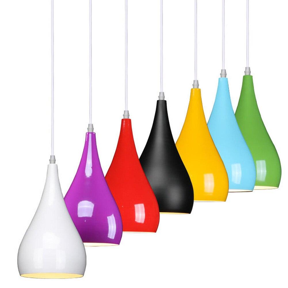 Multi-colors Mordern Kitchen Coffee Shop Pendant Lamp Aluminum Alloy E27 AC110V-240V Hanging Droplight Pendant Light Lamparas<br><br>Aliexpress