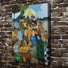 C0093 Itzchak Tarkay Market Place Woman Figure Landscape,HD Canvas Print Home decoration Living Room Wall  pictures Art painting