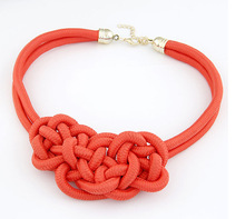 Factory Wholesale Hand Made Knitting Necklaces Multi Colors Rope Fashion Necklace for Women RH-1538