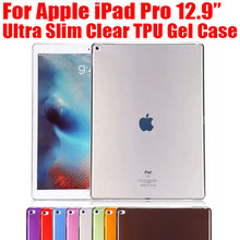 Ultra Slim TPU Case For iPad Pro Soft Gel Silicon Transparent Clear Cover Case for Apple iPad Pro 12.9 NO: IPR02