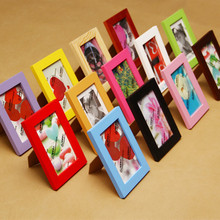 14 Colors Solid Wood Photo Frame Size 5 6 7 8 10 12 inches A4 Picture Frame Desk Decor For Living Or Drawing Room Office Desk(China)