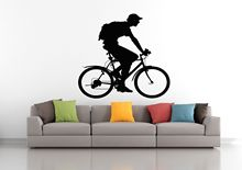 2016 hot Wall Decal Sticker Bedroom sport bike bmx bicycle riding boy nursery art free shipping WS2837