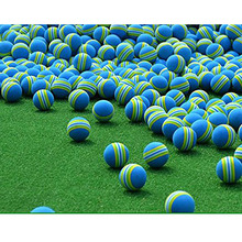 50pcs Rainbow Foam Sponge Indoor Practice Golf Balls Training Ball FE5#