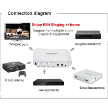 2016 High quality HDMI New Karaoke System Converter amplifier Online Singing Machine best partner for Computer karaoke mixer(China)
