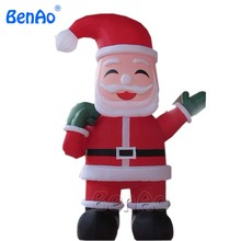 X075 4m hight inflatable celebration decoration inflatable Santa Claus for sale with gifts,Outdoor Inflatable Character Santa(China)