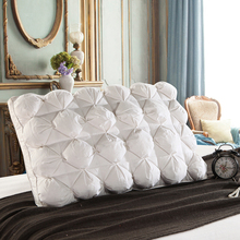 Peter Khanun 48*74cm Luxury 3D Style Rectangle White Goose/Duck Feather Down Pillows Down-proof 100% Cotton Bedding Pillow 063(China)