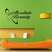 Mouse over image to zoom Absolute Beauty Hair Nail Spa Salon Logo Wall Decal Sticker Mural Decal