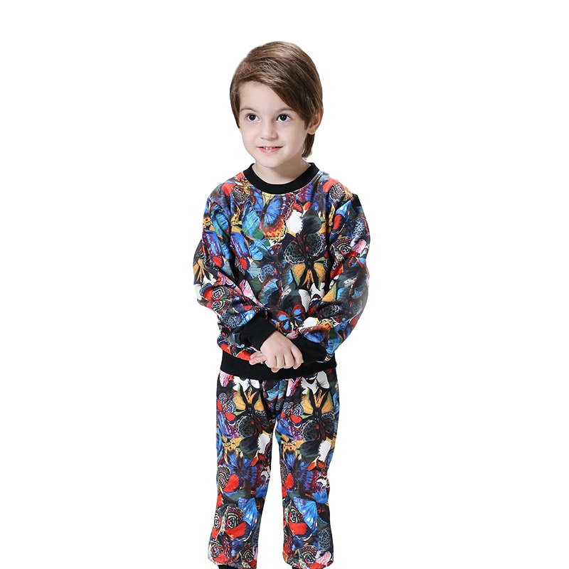 2016 Autumn Winter Sport Suits For Children 2pcs Sport Suit Sale Baby Kids Clothe New Printed Toddler Boys Clothing Set<br>