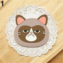 Cat Shaped Tea Coaster Cup Holder Mat Coffee Drinks Drink Silicon Coaster Pad for Kitchen Bar Coffee Bar