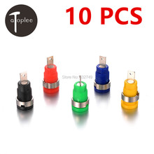 NEW Sale 10 PCS Good Quality Binding Post Banana Jack Socket Panel Mount for Safety Protection Plug 5 Colors
