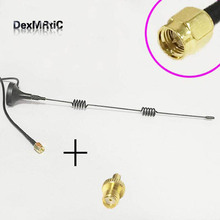 3G Antenna 5dBi 800-2170 MHZ magnetic base 3M extension cable SMA male +SMA Female switch TS9 Male RF Coax Adapter convertor(China)