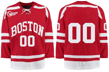 Boston University # Custom your name and number Stitched Hockey Jersey