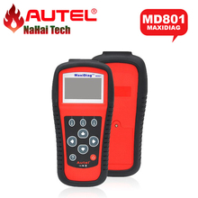 AUTEL MaxiDiag Pro MD801 OBDII Code Scanner (JP701+EU702+US703+FR704) MD 801 4 in 1 Auto Diagnostic Tool