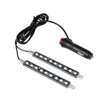 Car LED Interior Decoration lighting 2*9 LED 5050 chip 2 In 1 12V Decorative Atmosphere Lamp Charge