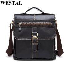 WESTAL Genuine Leather bag Men Bags Fashion Male Messenger Bag Men's Briefcase Man Casual Crossbody bags Shoulder Handbag 1292
