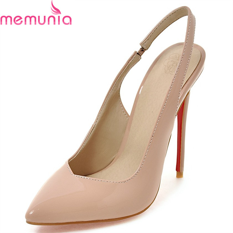 MEMUNIA 2018 hot sale stiletto high heels pointed toe shoes women spring autumn buckle wedding party elegant pumps<br>