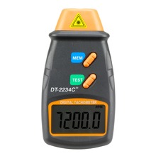 Digital Laser Tachometer RPM Meter DT2234C Non-Contact Motor Speed Gauge Revolution Spin
