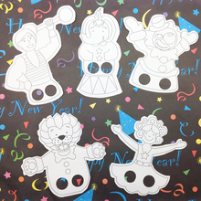 5PCS/LOT,Filling color paper finger puppet,Early educational toy,Fantastic toy,Promotion cheap.Family fun.5 design.Interactivity(China)