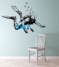 Scuba Diver Vinyl Wall Decal Sticker Sport Art Decor Bedroom Design Mural