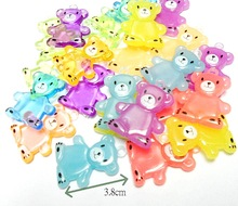 10pc bear Bead Charm Fashion Girl Kids Jewelery Chip Necklace Vintage Cup Cake Topper Decoration DIY Home Craft