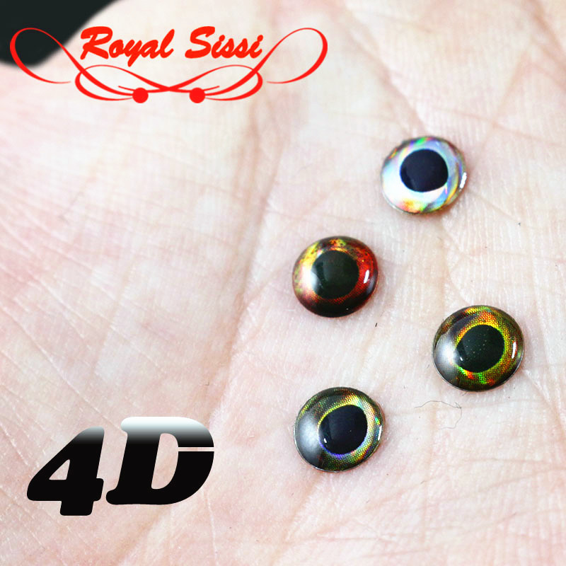 100 x 5mm 3d holographic gold eyes for flytying,flies,pike,bass,arts,craft,trout