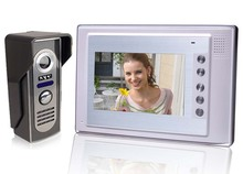 7 inch TFT LCD Monitor Colour Video Door Phone Doorbell Home IR Intercom System(China)