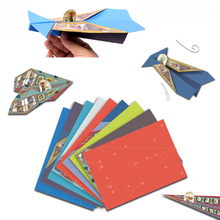 Paper Toy Plane Classic Childhood Origami Toy Paper Airplanes Kit 20 Unique Paper Airplanes Educational DIY Plane Model(China)