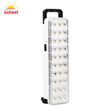 Wholesale Emergency LED light flashlight mini 30 LED Rechargeable Emergency Light Lamp 2 Mode for Home camp outdoor new(China)